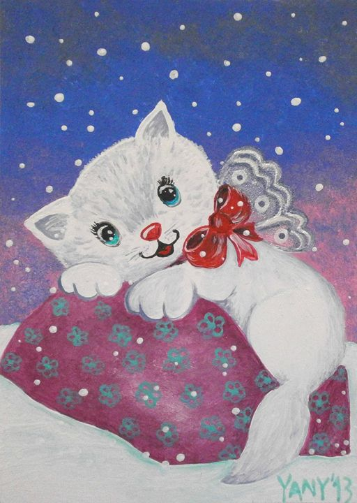 White kitten - Art by Yany