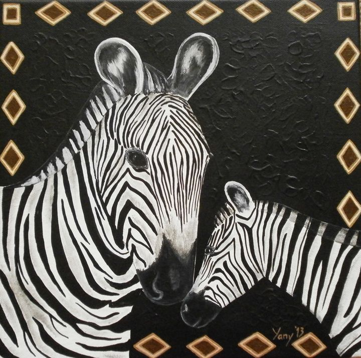 Zebra s love - Art by Yany