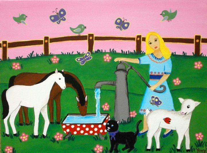 A little farmer - Art by Yany