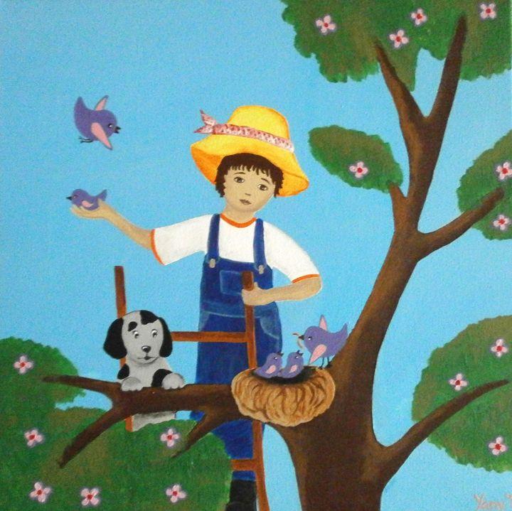 A little gardener - Art by Yany