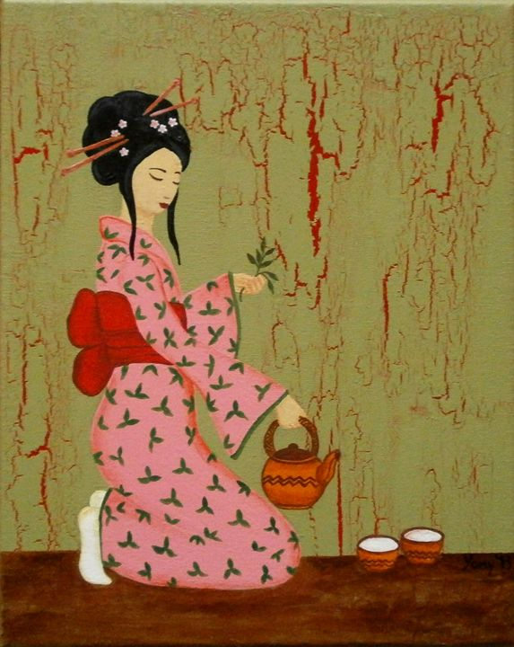 Tea time with Geisha - Art by Yany