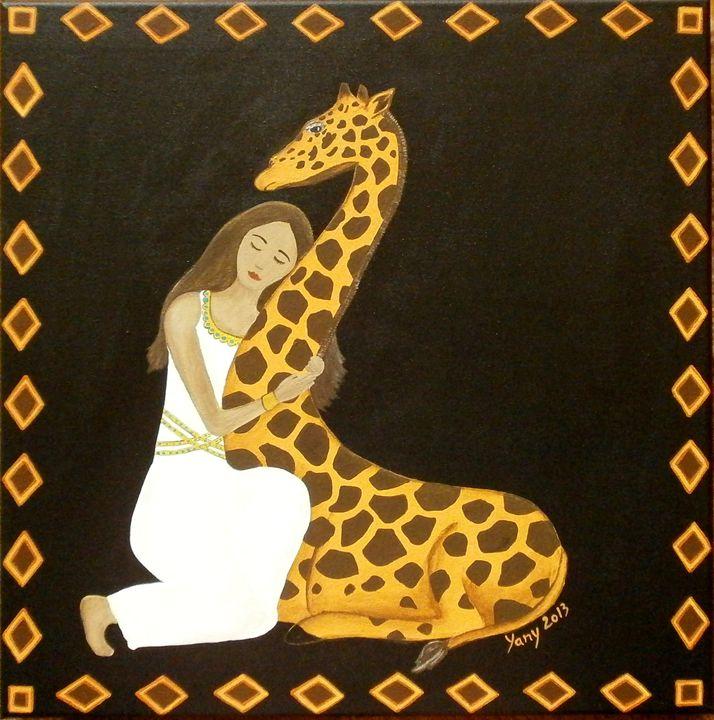 Giraffe s love - Art by Yany
