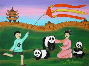 Behind the Chinesse wall - Art by Yany