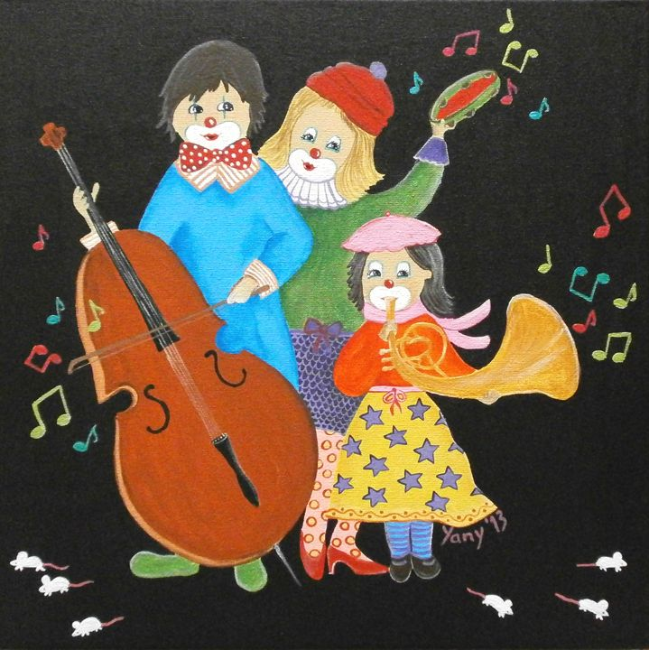 Clowns love music II - Art by Yany