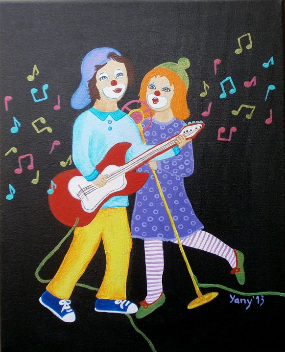 clowns love music I - Art by Yany
