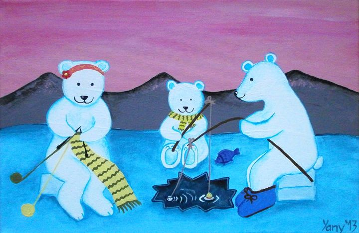 The bear s family I - Art by Yany