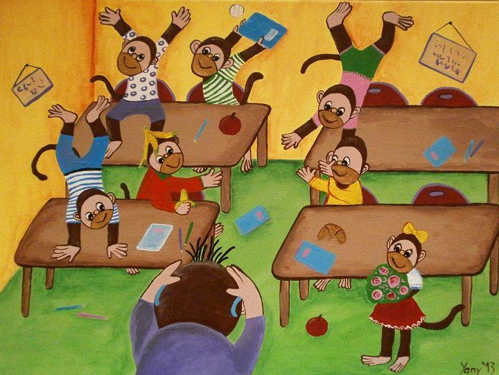 The monkey s classroom - Art by Yany