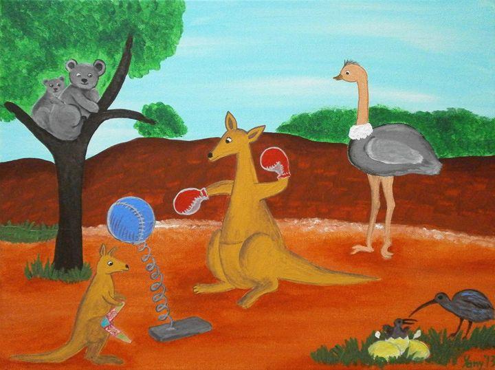 Trainning in Australia - Art by Yany