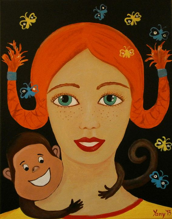 Pippi the Longstocking - Art by Yany