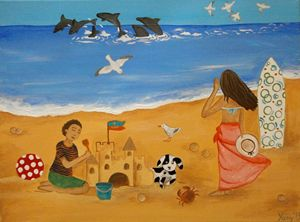 Afternoon at the beach - Art by Yany