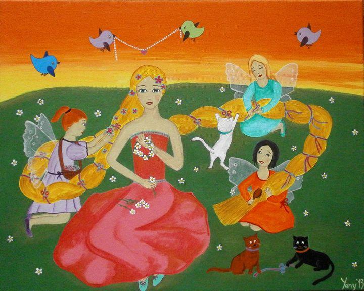 Rapunzel - Longhaired princess - Art by Yany