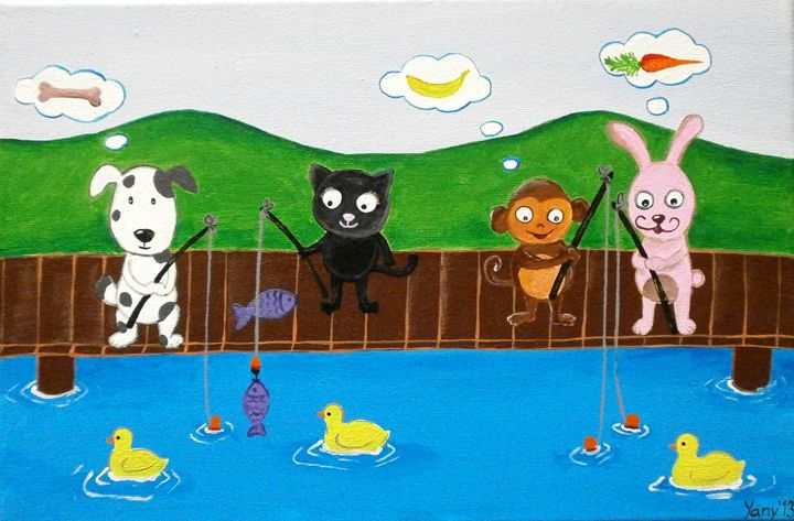Happy fishing - Art by Yany