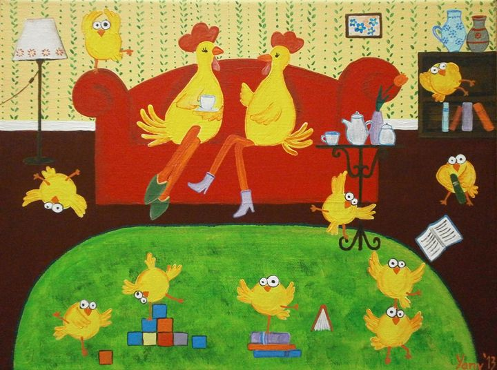 Chicken s family - Art by Yany