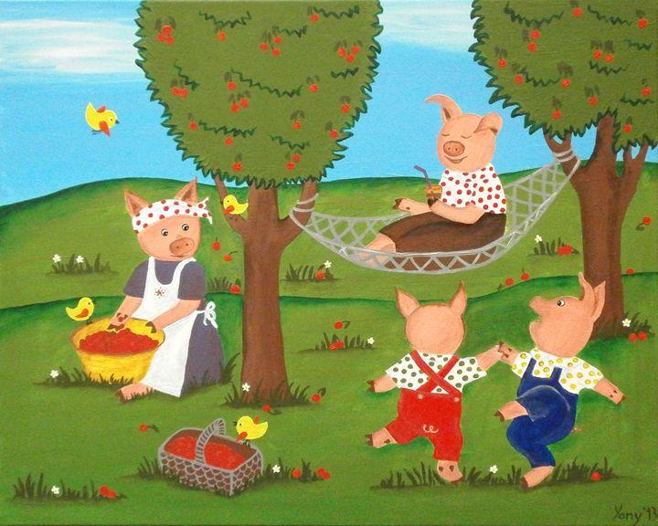 Three pigs - Art by Yany