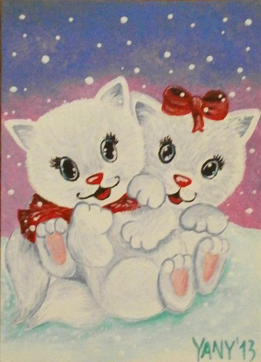 The kittens - Art by Yany