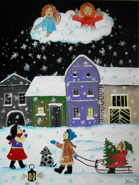 The snowflakes from angels - Art by Yany