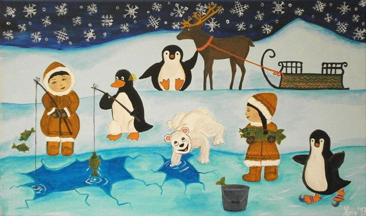 Polar fishing - Art by Yany