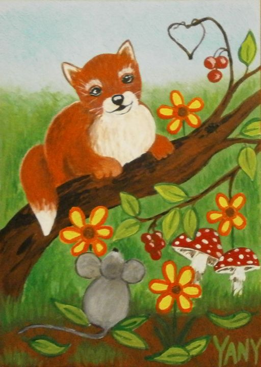 Little fox - Art by Yany