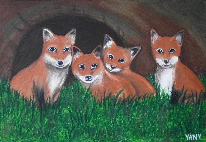 Foxes - Art by Yany