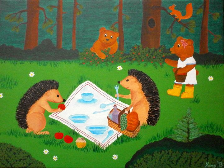 Let s have a picnic - Art by Yany