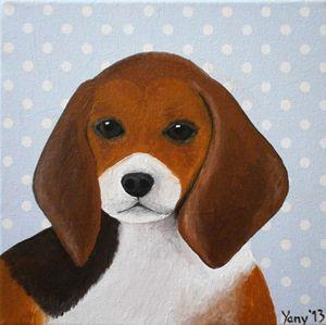 The Beagle puppy - Art by Yany