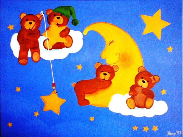 Dreamy teddies II - Art by Yany