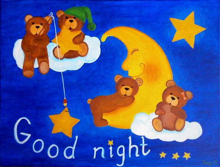 Dreamy teddies - Art by Yany