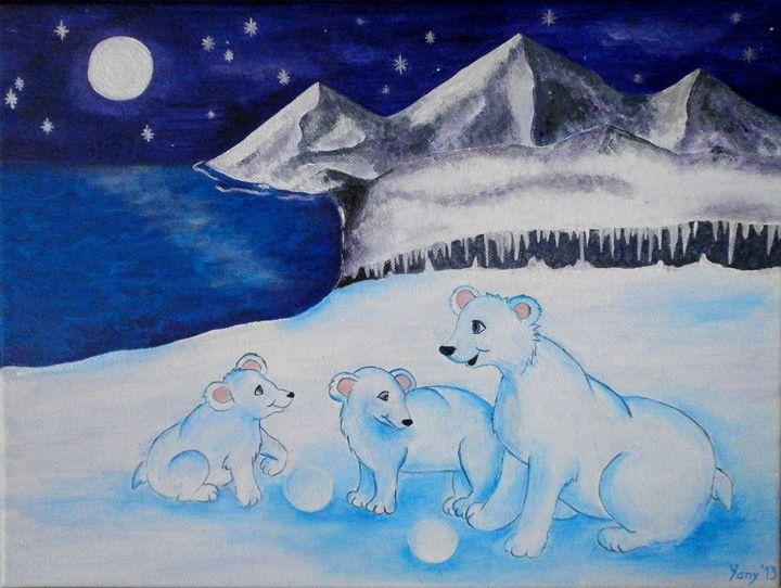 The bear s family - Art by Yany