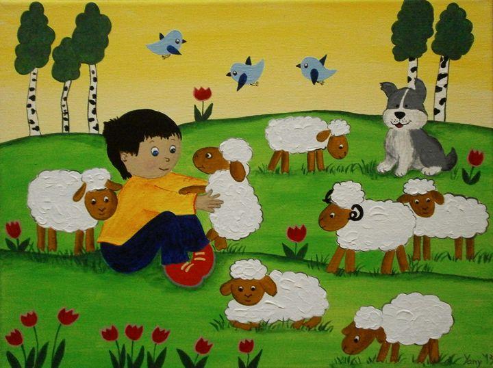 The little shepherd - Art by Yany
