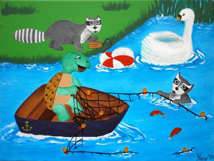 The river fisherman - Art by Yany