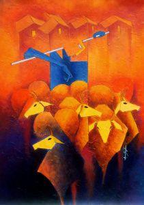 Pastoral - Amar Singha Paintings