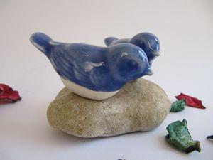 2 birds on stone - StellaKeramiKa