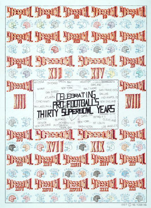 Superbowl Poster - Robbins Designs
