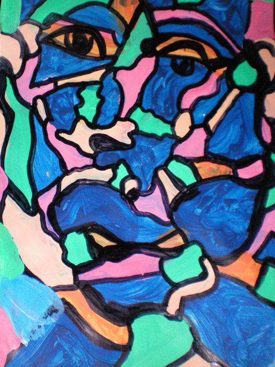 Stainglass Face#3 - JWE Abstract Artwork