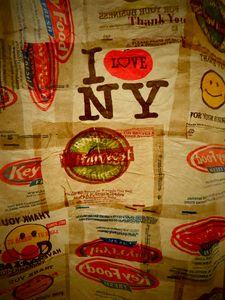 Plastic Bag Shower Curtain