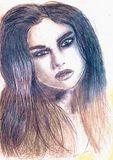 Sketch of celebrity Selena Gomez