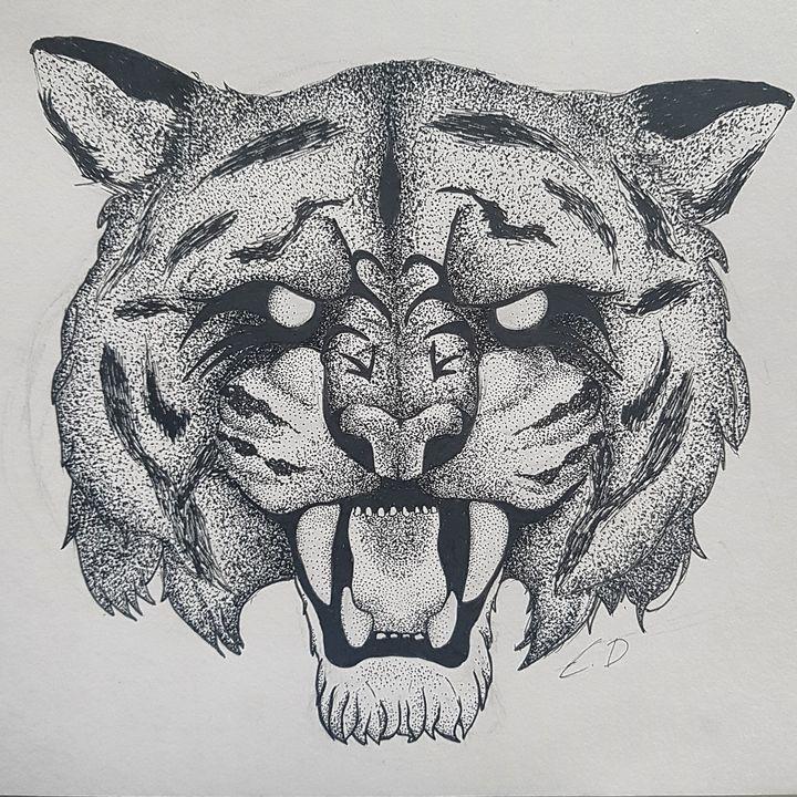 dotwork tiger - emya_design