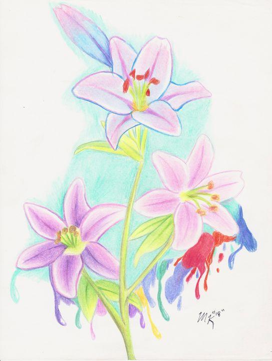 Drippy flowers - Savvy_Vigor Art Space