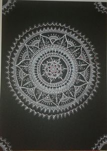 mandala inspired drawing