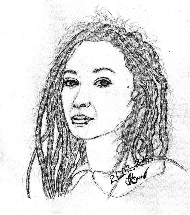 Dreaded Girl - Art Drawings