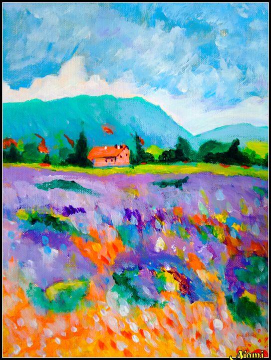 House on landscape - Nami's colorline
