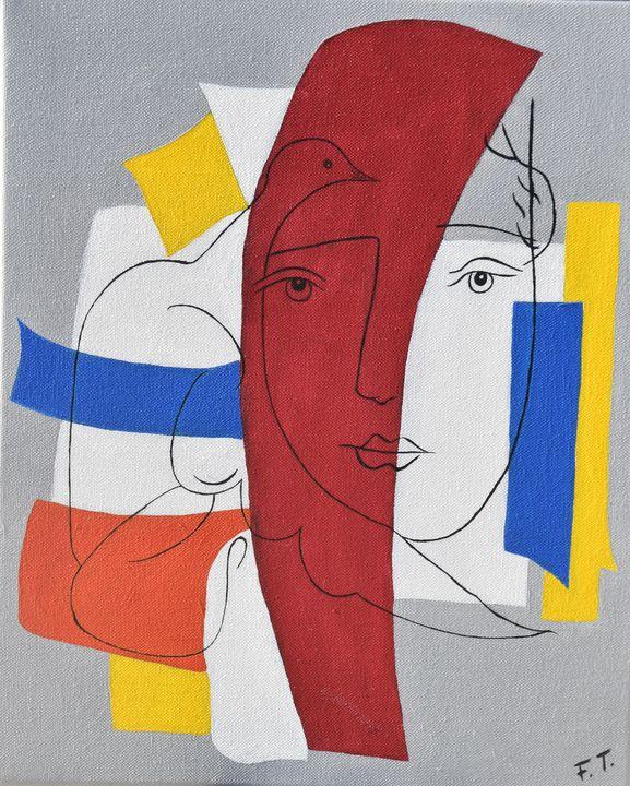 Clin d'oeil à Picasso - Françoise Troispoils