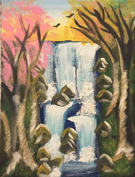 Waterfall painting - Tasmin