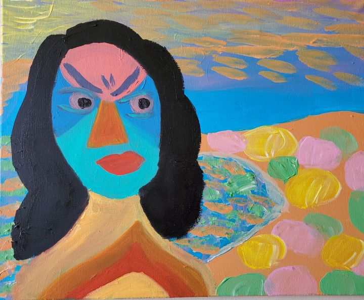Angry at the beach - Reyna Vera Prieto