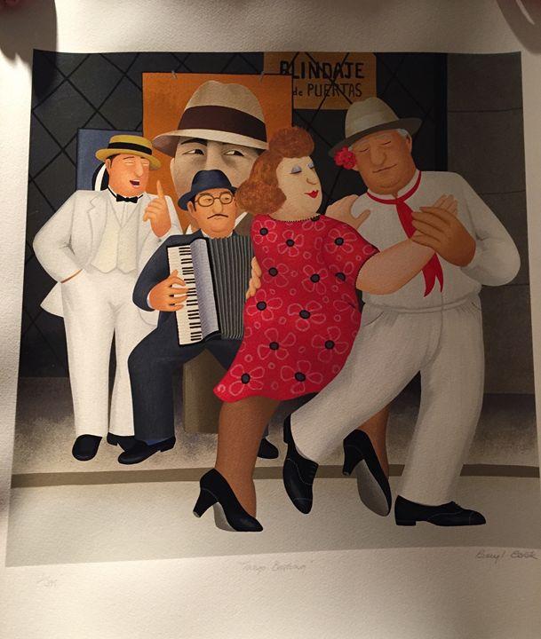 Tango Busking - Beryl Cook