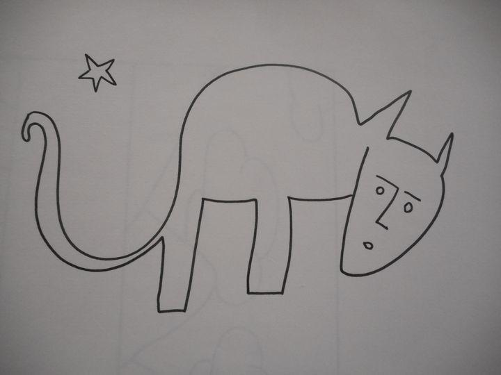 crazy cat - Bruce Burt artist