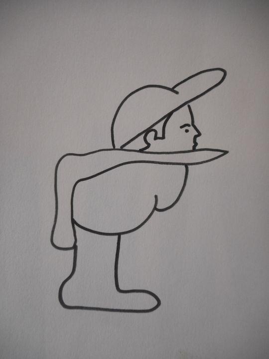 disoriented man - Bruce Burt artist
