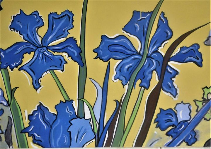 field of Iris - Bruce Burt artist