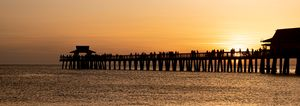 Sunset in the pier