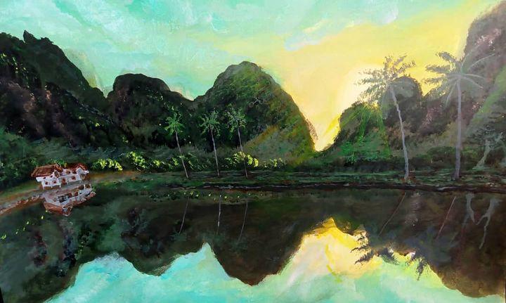 Sunrise at karst landscape - Ubunartworks